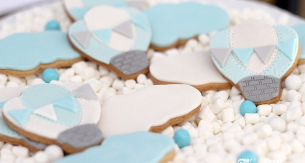 Sugar Cookies from a Hot Air Balloon Birthday Party via Kara's Party Ideas | KarasPartyIdeas.com (2)