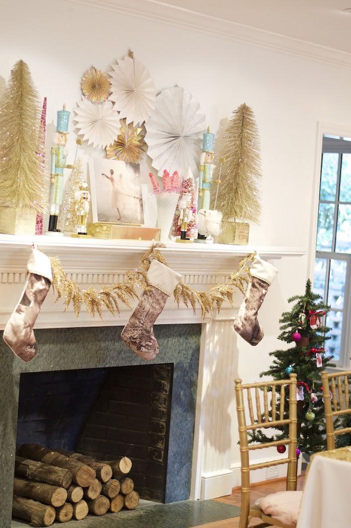 Fireplace Display Ideas kara's party ideas fireplace display from a nutcracker ballet