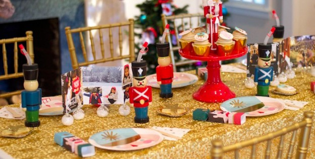 Tablescape from a Nutcracker Ballet themed Birthday Holiday Party via Kara's Party Ideas | KarasPartyIdeas.com (2)