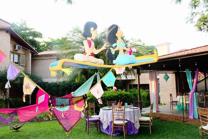 Garland Bunting From A Princess Jasmine Birthday Party Via Karas Ideas