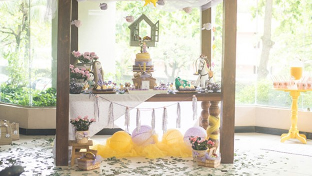 Sweet Table from a Rapunzel + Tangled Themed Picnic Party via Kara's Party Ideas! KarasPartyIdeas.com (1)