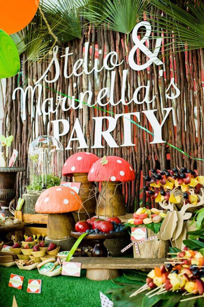 Kara S Party Ideas Sweet Table From A Robin Hood Amp Tinker