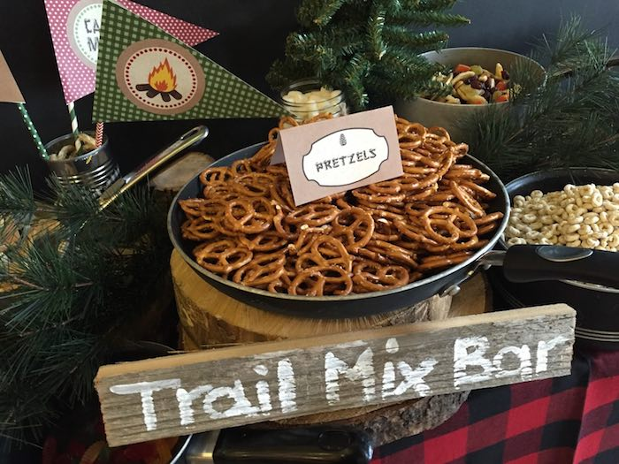 Trail Mix From A Rustic Camping Birthday Party Via Karas Ideas