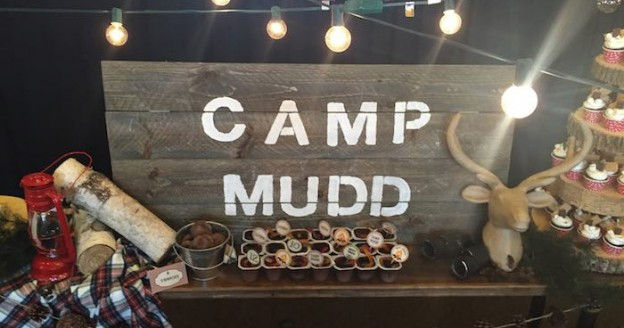 Wood Sign Backdrop from a Rustic Camping Birthday Party via Kara's Party Ideas | KarasPartyIdeas.com (1)