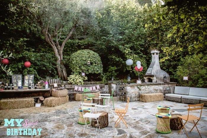partyscape from a rustic outdoor farm garden party via karas party ideas karaspartyideas - Rustic Garden 2015