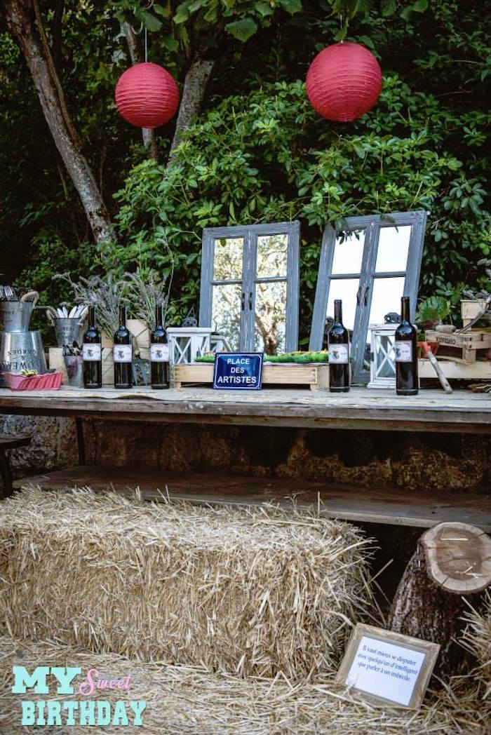 Kara's Party Ideas Table from a Rustic Outdoor Farm ...