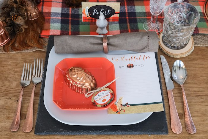 Kara's Party Ideas Place Setting From A Rustic Woodland