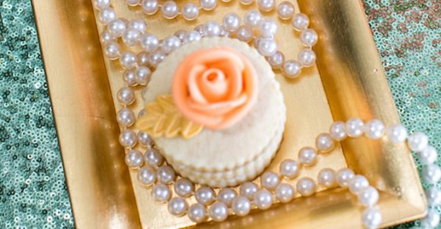 Stacked Cookie from a Sequins & Pearls Glamorous Birthday Party via Kara's Party Ideas KarasPartyIdeas.com (4)