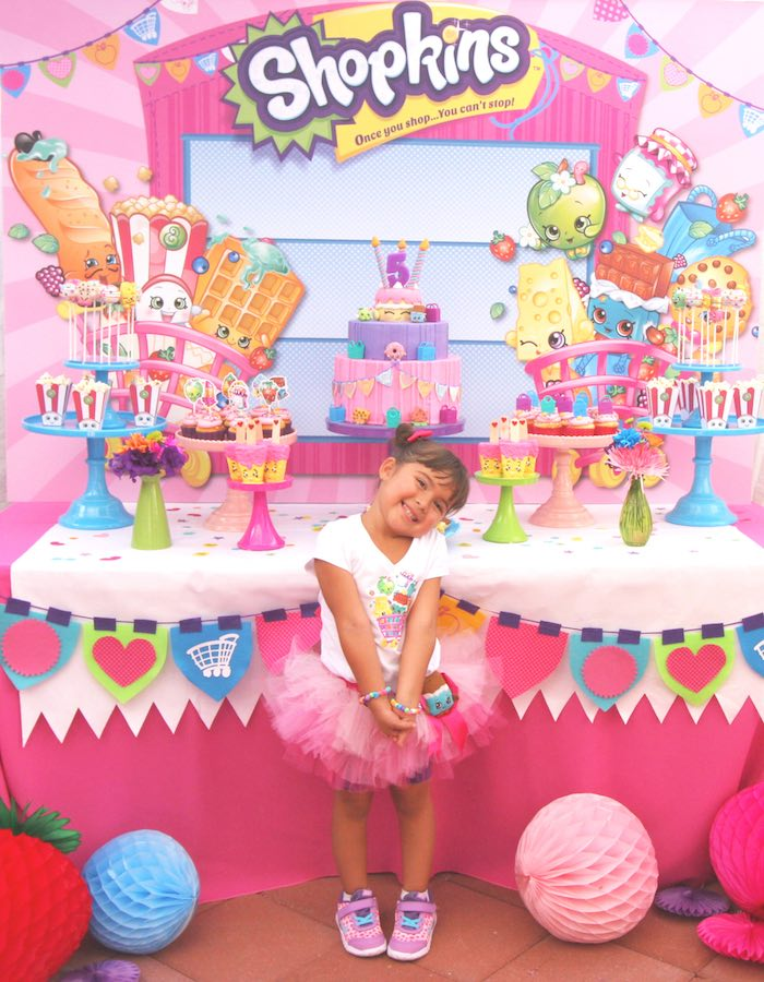 Karas Party Ideas Sweet Table From A Shopkins Birthday