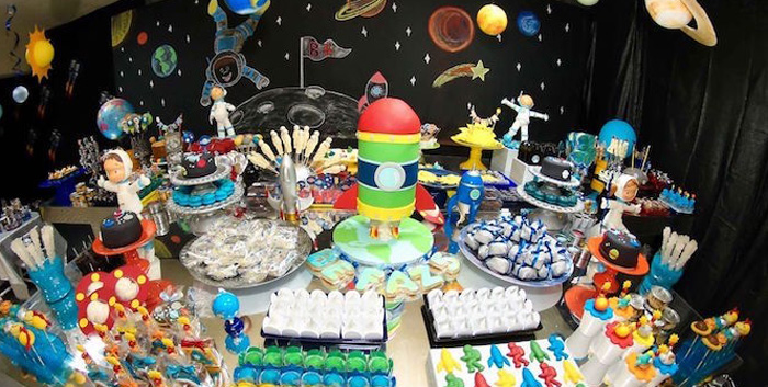 Space Themed Birthday Party Food And Decoration Ideas