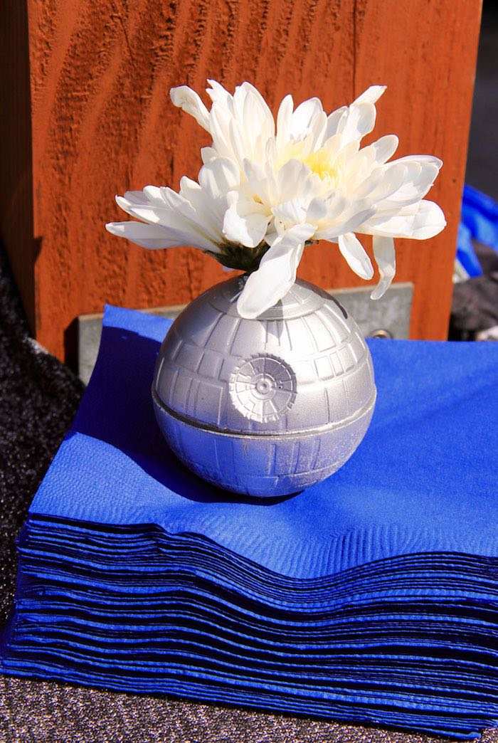 Kara S Party Ideas Death Star Floral Prop Napkin Weight