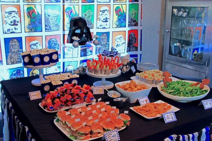 Food Table From A Star Wars Birthday Party Via Karas Ideas KarasPartyIdeas