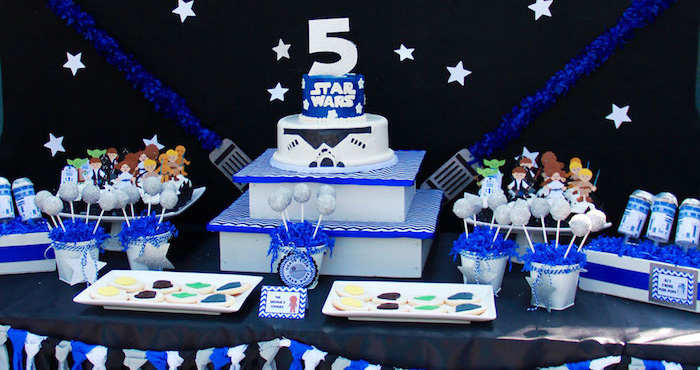 Karas Party Ideas Star Wars 5th Birthday