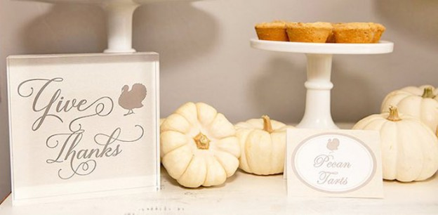 Part of the Sweet Table from a Thanksgiving Dessert Table + FREE Printables via Kara's Party Ideas! KarasPartyIdeas.com (1)