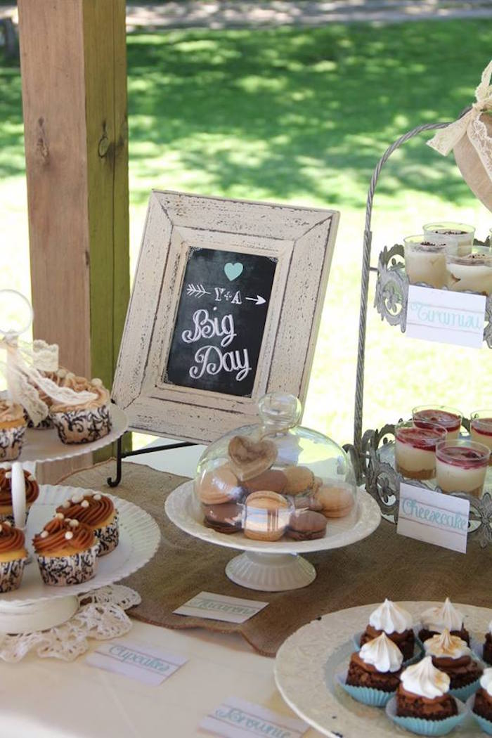 Kara S Party Ideas Sweets Decor From A Vintage Shabby