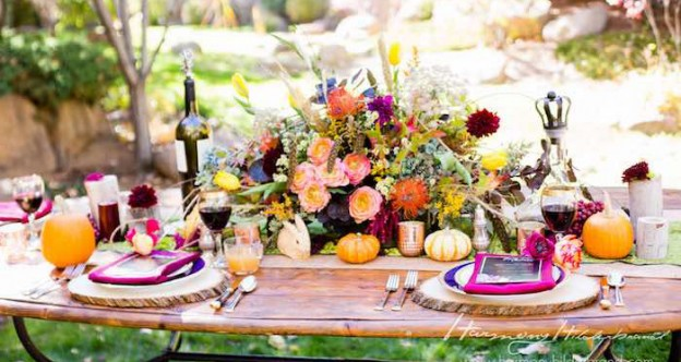 Dining Tablescape from a Whimsical + Rustic Fall Party via Kara's Party Ideas | KarasPartyIdeas.com (1)