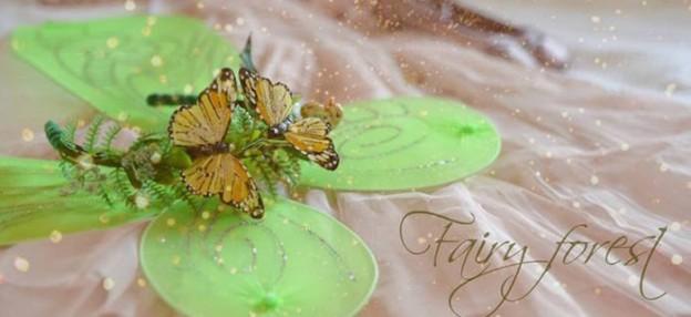 Fairy Wings + Headband from a Woodland Fairy Birthday Party via Kara's Party Ideas   KarasPartyIdeas.com (1)