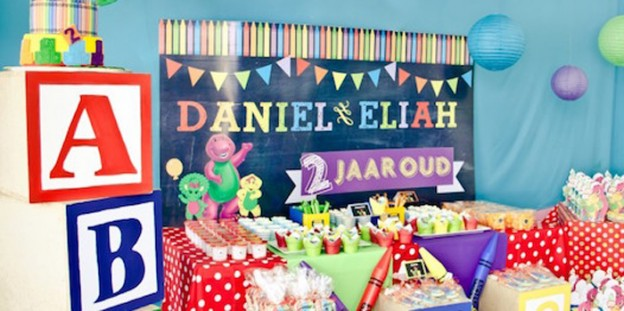 Sweet Table from a Barney & Friends ABC Birthday Party via Kara's Party Ideas | KarasPartyIdeas.com (3)