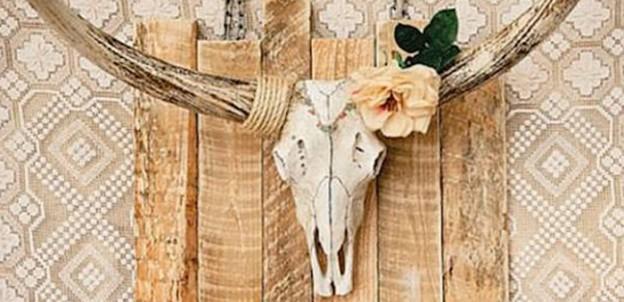 Skull Backdrop from a Boho Birthday Party via Kara's Party Ideas | KarasPartyIdeas.com (1)