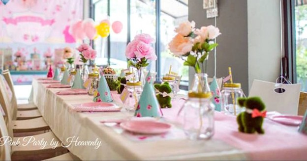 Dining Tablescape from a Cath Kidston Inspired Bunny Party via Kara's Party Ideas | KarasPartyIdeas.com (2)