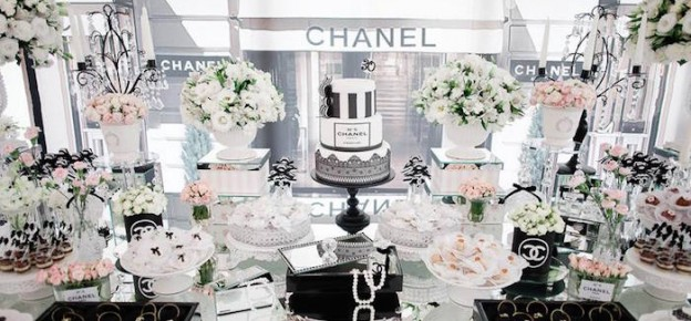 Dessert Table From A Chanel Inspired Birthday Party Via Karas Ideas