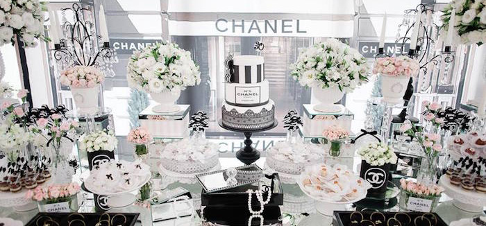 Karau0027s Party Ideas Chanel Inspired 30th Birthday