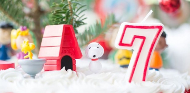 Cake Toppers from a Charlie Brown Christmas + Snoopy Inspired Birthday Party via Kara's Party Ideas KarasParty Ideas.com (1)