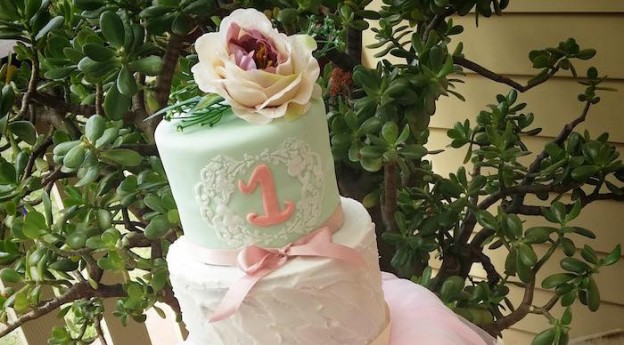 Cake from a Chic Ballerina Birthday Party via Kara's Party Ideas | KarasPartyIdeas.com (1)