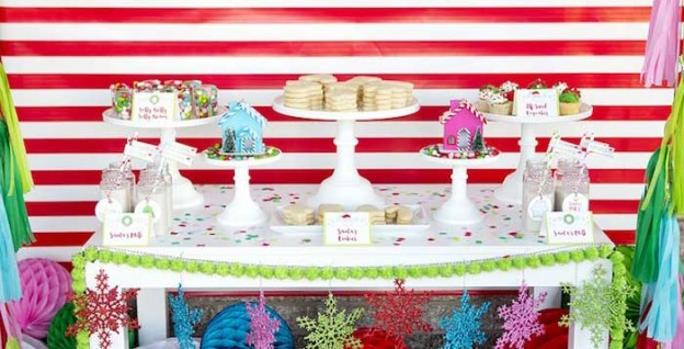 Cookie Table from a Christmas Cookie Decorating Party via Kara's Party Ideas KarasPartyIdeas.com (2)