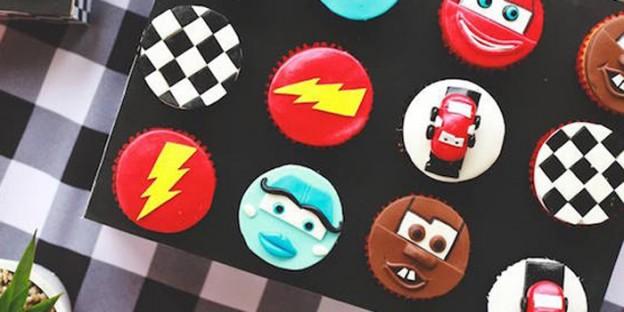 Cupcakes from a Disney Cars Birthday Party via Kara's Party Ideas | KarasPartyIdeas.com (2)