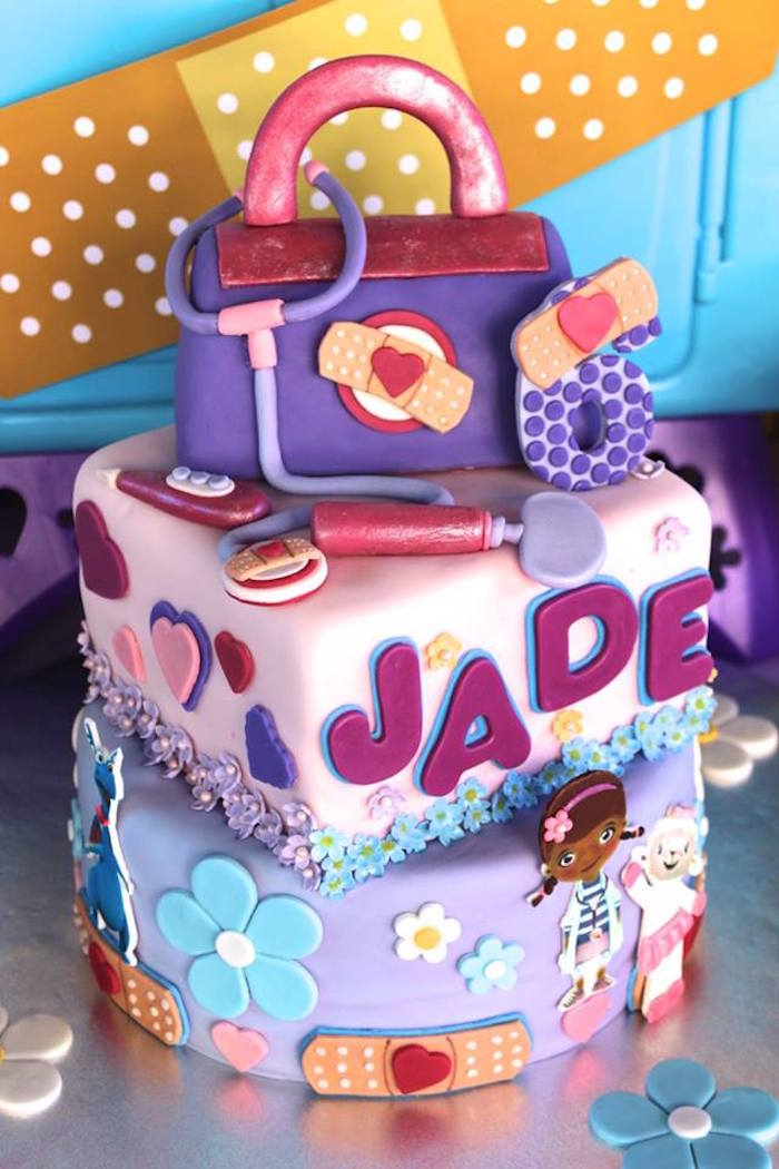 Kara's Party Ideas Cake from a Doc McStuffins Birthday ...