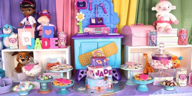 Dessert Table from a Doc McStuffins Birthday Party via Kara's Party Ideas | KarasPartyIdeas.com (1)
