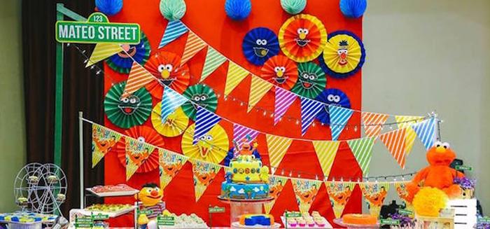 Kara S Party Ideas Elmo Sesame Street Birthday Party
