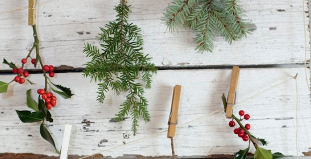 Branch Backdrop from a Favorite Things Holiday Party via Kara's Party Ideas | KarasPartyIdeas.com (2)