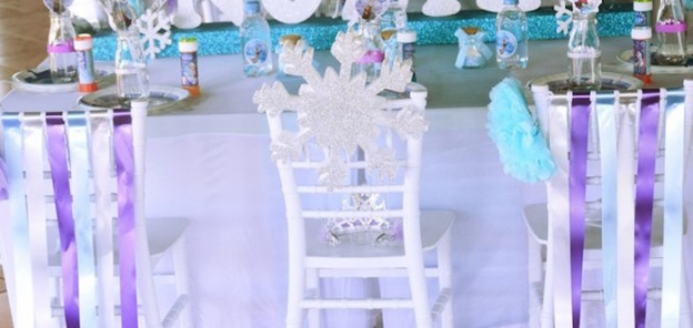 Guest Table from a Frozen 1st Birthday Party via Kara's Party Ideas | KarasPartyIdeas.com (2)