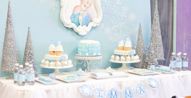 Dessert Table From A Frozen Birthday Party Via Karas Ideas KarasPartyIdeas