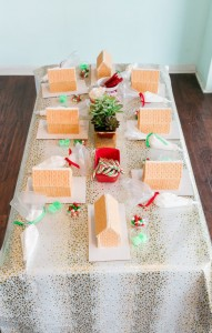 Gingerbread House Decorating Table from a Gingerbread House Decorating Party via Kara's Party Ideas KarasPartyIdeas.com (28)