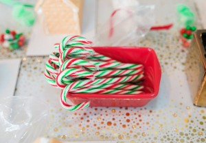 Candy Canes from a Gingerbread House Decorating Party via Kara's Party Ideas KarasPartyIdeas.com (25)