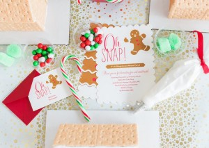 Invitation from a Gingerbread House Decorating Party via Kara's Party Ideas KarasPartyIdeas.com (23)