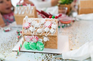 Gingerbread House from a Gingerbread House Decorating Party via Kara's Party Ideas KarasPartyIdeas.com (17)