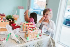 Gingerbread Houses from a Gingerbread House Decorating Party via Kara's Party Ideas KarasPartyIdeas.com (12)