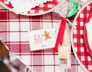 Dessert Shot + Stationery from a Gingerbread House Decorating Party via Kara's Party Ideas KarasPartyIdeas.com (7)