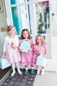 Little Girls with their Gable Favor Boxes from a Gingerbread House Decorating Party via Kara's Party Ideas KarasPartyIdeas.com (4)