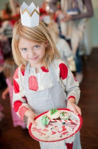 Little Girl and her Plate Full of Sweets from a Gingerbread House Decorating Party via Kara's Party Ideas KarasPartyIdeas.com (3)