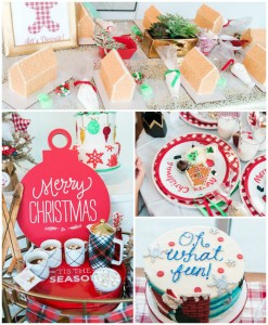 Gingerbread House Decorating Party via Kara's Party Ideas KarasPartyIdeas.com (2)