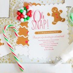 Invitation from a Gingerbread House Decorating Party via Kara's Party Ideas KarasPartyIdeas.com (1)