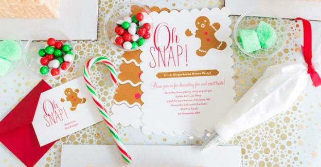 Invitation from a Gingerbread House Decorating Party via Kara's Party Ideas KarasPartyIdeas.com (1)