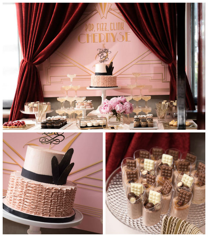 Glamorous Old Hollywood Vintage Birthday Party Via Karas Ideas