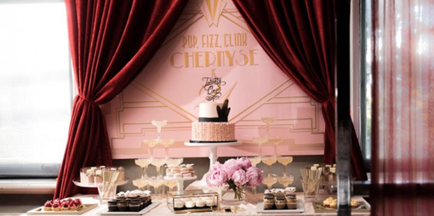 Dessert Table from a Glamorous Old Hollywood Vintage Birthday Party via Kara's Party Ideas | KarasPartyIdeas.com (1)