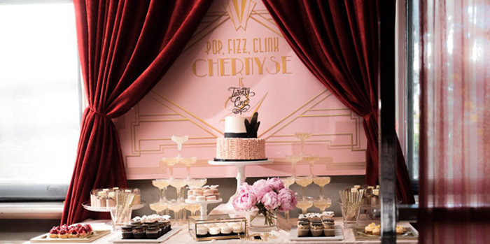 Karas Party Ideas Glamorous Old Hollywood Vintage Birthday Party